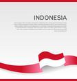 indonesia flag background wavy ribbon