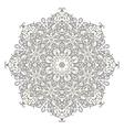 Lace mandala ornament vector image vector image