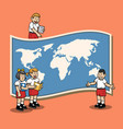 learn geography at elementary school vector image vector image
