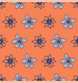 line art floral seamless pattern repeat vector image