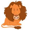 lion cartoon animal character vector image vector image