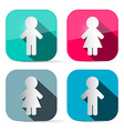 Man and Woman Icons - Buttons Web Symbols in vector image vector image