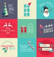 Merry Christmas flat elements set vector image