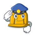 police construction helmet character cartoon vector image
