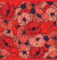 red poppies seamless pattern summer flowers in vector image vector image