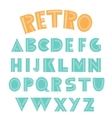 Retro english alphabet vector image