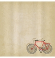 retro striped background with bicycle vector image vector image