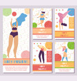 set network mobile stories body positive motive vector image vector image