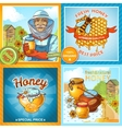 Set Of Honey Compositions vector image vector image