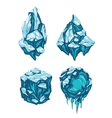 Set of Ice Blocks vector image vector image