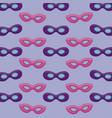 set of masks carnival pattern vector image