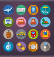 set travel concept flat icons resort cruise vector image vector image