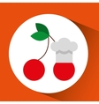silhouette head with tasty fruit icon graphic vector image