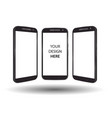 smartphone mock up set vector image vector image