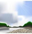 Summer river backdrop with gradient mesh vector image