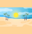 sunrise on seashore abstract view the vector image vector image