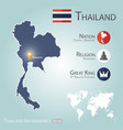 thailand infographics map vector image