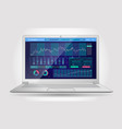 trading platform interface with infographic vector image