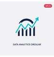 two color data analytics circular icon from vector image vector image