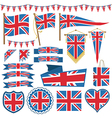 uk flag decorations vector image vector image