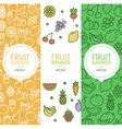 Vegan Banner Flyer Vertical Set vector image vector image