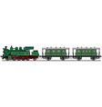 Vintage green steam train vector image vector image