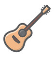 acoustic guitar filled outline icon music vector image