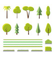 flat trees set vector image