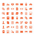 49 pad icons vector image vector image