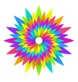 abstract geometric rainbow flower logo design vector image vector image