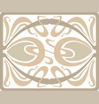 art deco tracery design vector image