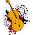 artist violin vector image vector image