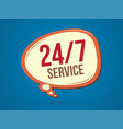 balloon font 24 hours service icon graphic vector image