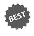 best sign icon simple vector image vector image