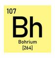 bohrium chemical symbol vector image vector image