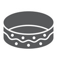 bracelet glyph icon jewellery and accessory vector image