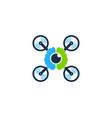 brain drone logo icon design vector image vector image