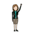 character woman politician standing wearing skirt vector image vector image