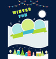 christmas and winter holidays poster festive snow vector image vector image