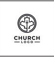 church logo design inspiration idea concept vector image vector image
