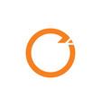 circle geometric arrow design logo vector image vector image
