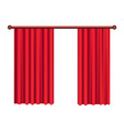 classic heavy red drapes on cornice vector image vector image