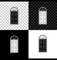 closed door icon isolated on black white and vector image vector image