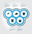 clothes icons set collection of waistcoat vector image vector image