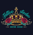 colorful tattoo salon logotype vector image vector image