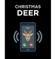 Concept of phone call from Christmas Deer vector image vector image