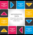 creative business planning info-graphics design vector image