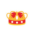 crown monarch jewel royalty authority vector image vector image