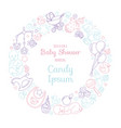 cute baby shower invitation card for newborn boy vector image vector image
