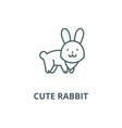 cute rabbit line icon cute rabbit outline vector image vector image